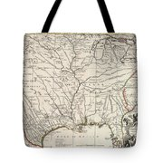 Map Of Louisiana And Of The River Mississippi Tote Bag