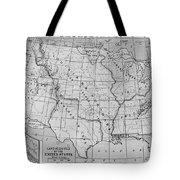 Louisiana Purchase Map Tote Bag