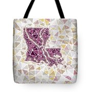 Louisiana State Map Geometric Abstract Pattern  Tote Bag