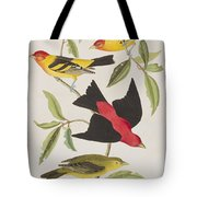 Louisiana Tanager Or Scarlet Tanager  Tote Bag
