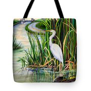 Louisiana Wetlands Tote Bag by Elaine Hodges