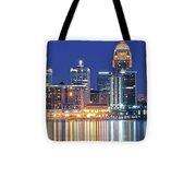 Louisville Kentucky Lights Tote Bag