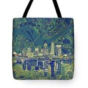 Louisville Kentucky Skyline Abstract 6 Tote Bag