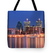 Louisville Panoramic At Blue Hour Tote Bag