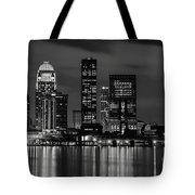 Louisville Skyline At Night 2 Tote Bag