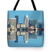 Louisville Skyline Reflection Tote Bag