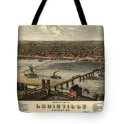 Louisville Vintage Map Tote Bag