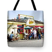 Loulou's On The Commercial Pier In Monterey-california Tote Bag