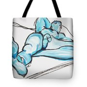 Lounging In Blue Tote Bag