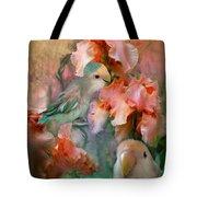 Love Among The Irises Tote Bag by Carol Cavalaris