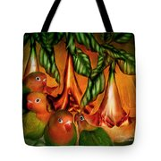 Love Among The Trumpets Tote Bag