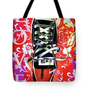 Love And Converse Tote Bag