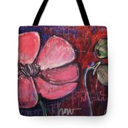 Love And Live With Purpose Poppies Tote Bag