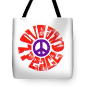 Love And Peace 14 Tote Bag