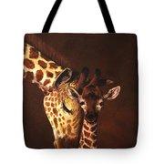 Love And Pride Giraffes Tote Bag
