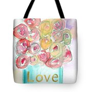Love And Roses- Art By Linda Woods Tote Bag