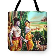 Love And Valour- Ramayana- The Divine Saga Tote Bag