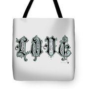 Love Art Typography - Elegant Art Prints Tote Bag