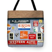 Love Barn With Road Signs, Orland, Maine Tote Bag