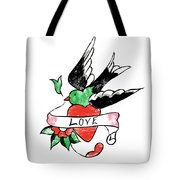 Love Bird Tattoo Tote Bag