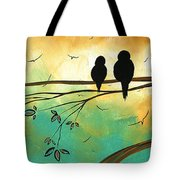 Love Birds By Madart Tote Bag