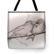Love Birds Tote Bag by Ginny Youngblood