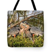 Love Birds - Great Blue Heron Tote Bag