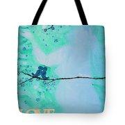 Love Birds In Blue Maternity Tote Bag