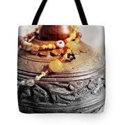 Love Bracelet On Wooden Vase Tote Bag