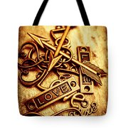 Love Charms In Romantic Signs And Symbols Tote Bag