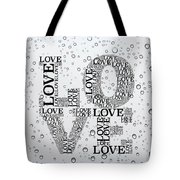 Love Droplets Tote Bag