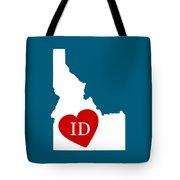 Love Idaho White Tote Bag