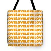 Love In Orange  Tote Bag