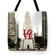 Love In Philadelphia Tote Bag by Bill Cannon