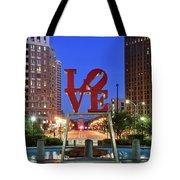 Love In Philadelphia Tote Bag