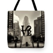 Love In Sepia Tote Bag