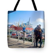 Love In The Port Of Valpaparaiso-chile Tote Bag