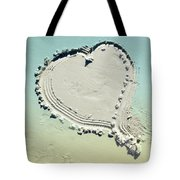 Love In The Sand Tote Bag