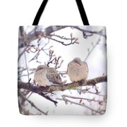 Love Is In The Air - Mourning Dove Couple Tote Bag