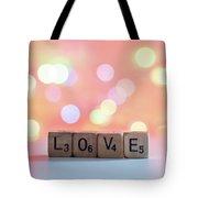 Love Lights Square Tote Bag