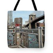 Love Locks In Brooklyn New York Tote Bag