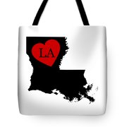 Love Louisiana Black Tote Bag