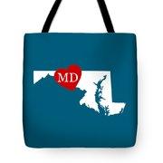 Love Maryland White Tote Bag