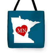 Love Minnesota White Tote Bag