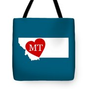 Love Montana White Tote Bag