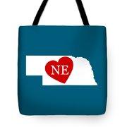 Love Nebraska White Tote Bag