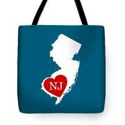 Love New Jersey White Tote Bag