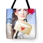 Love Note Delivery From The Heart Tote Bag