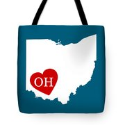 Love Ohio White Tote Bag