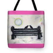 Love On A Bench Tote Bag